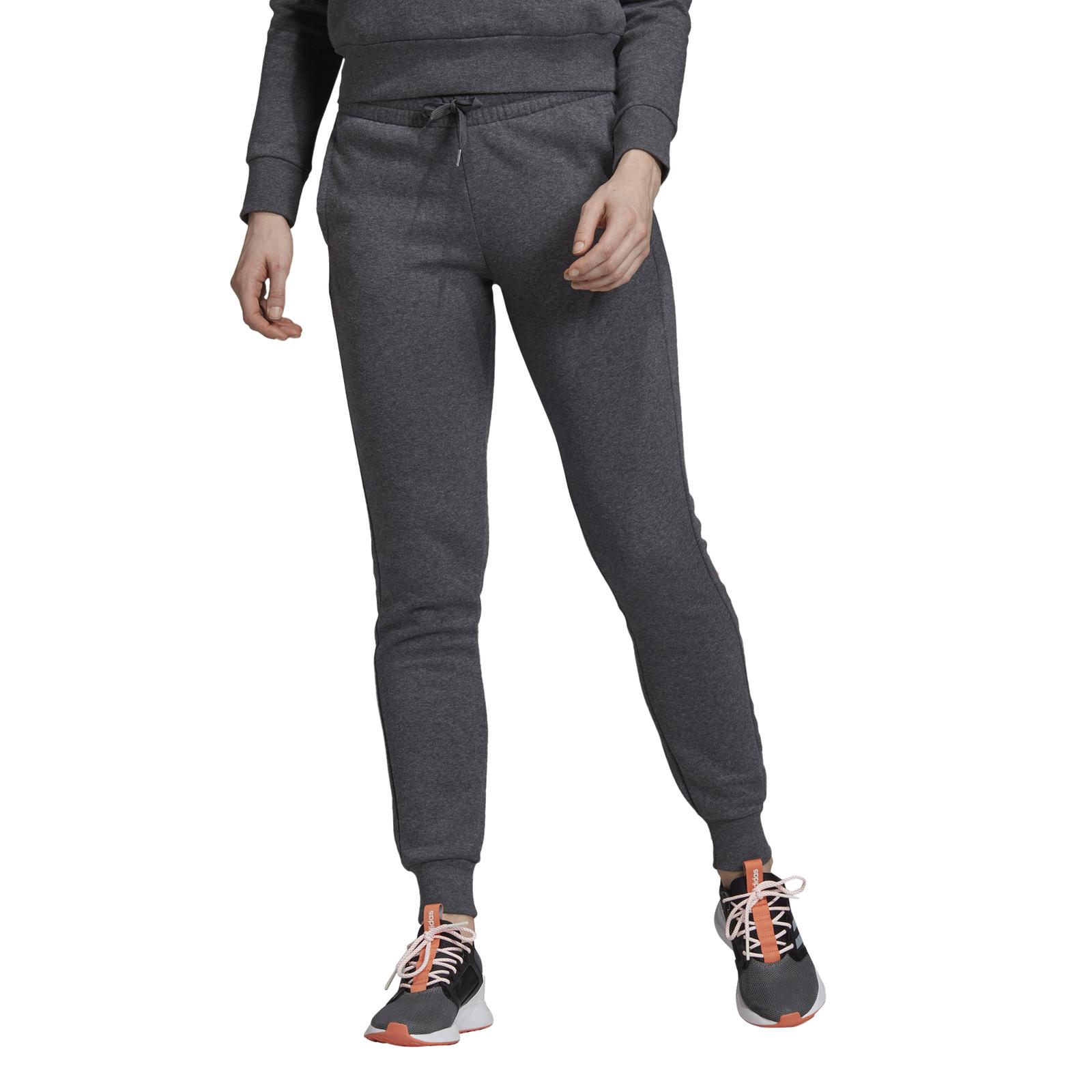 Details zu adidas Core Damen Fitnesshose Trainingshose Essentials Linear Fleece Pant grau