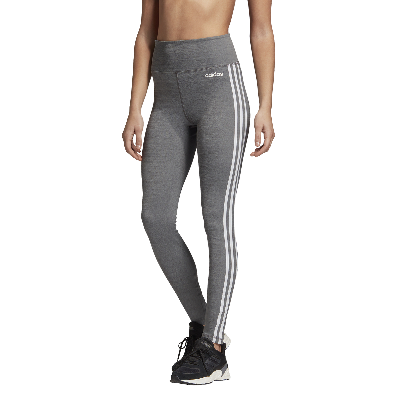 Details about Adidas Performance Womens Fitness Leggings D2M 3S High Rise Long Tight Grey show original title
