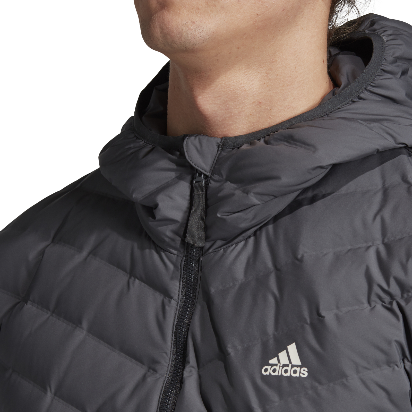Details about Adidas Performance Men's down Jacket Varilite Soft 3S Soft Hooded Carbon