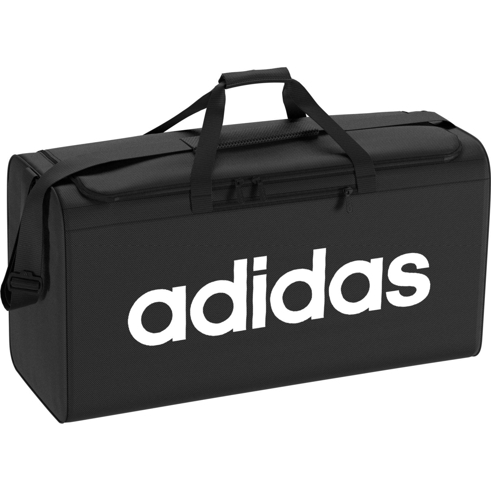 Details zu adidas Herren Sporttasche Essentials Linear Core Duffel Bag Größe Medium schwarz