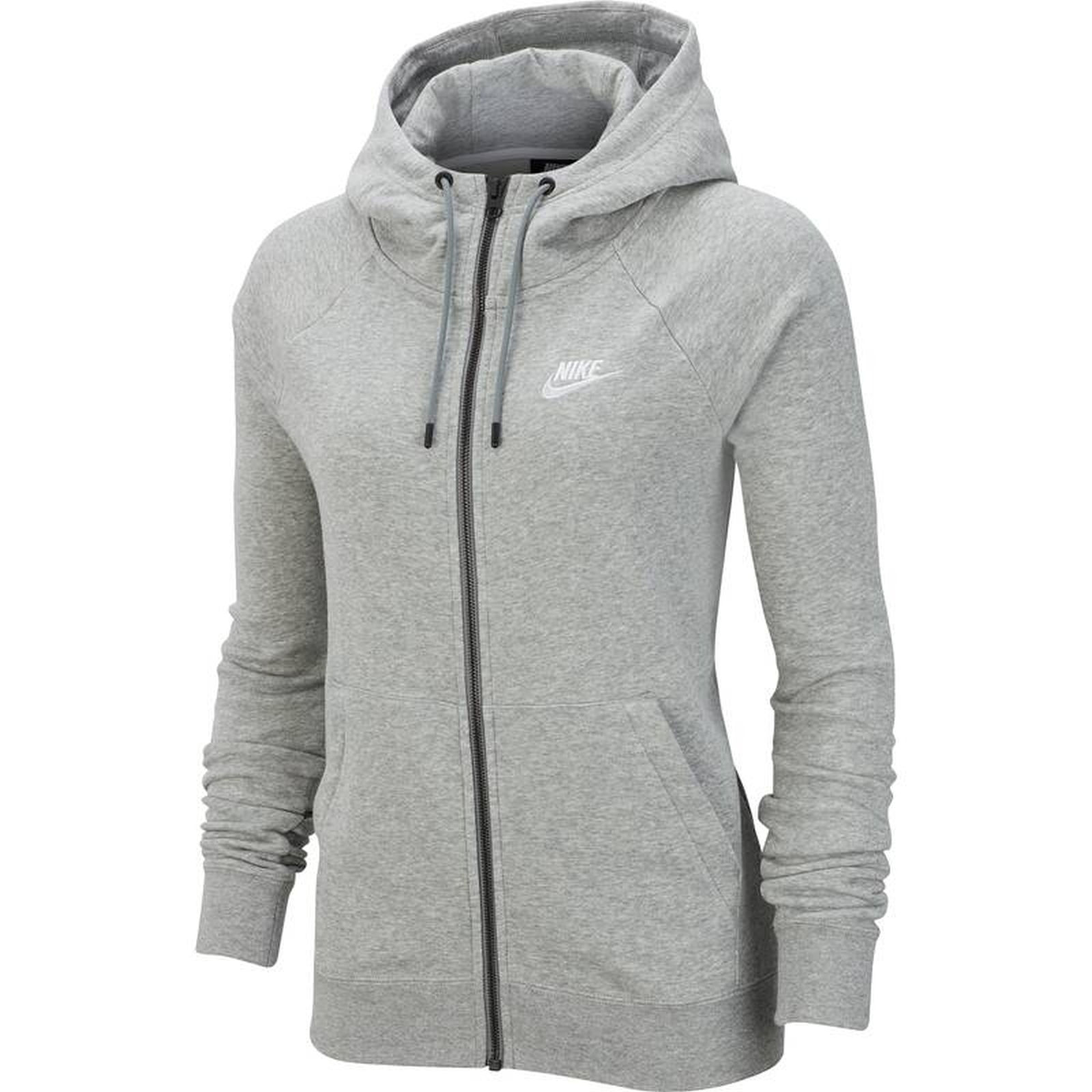 Détails sur Nike Femmes Sport Fitness Kapuzenjacke VesteSweat Essntl à Capuche Fz Fl Gris