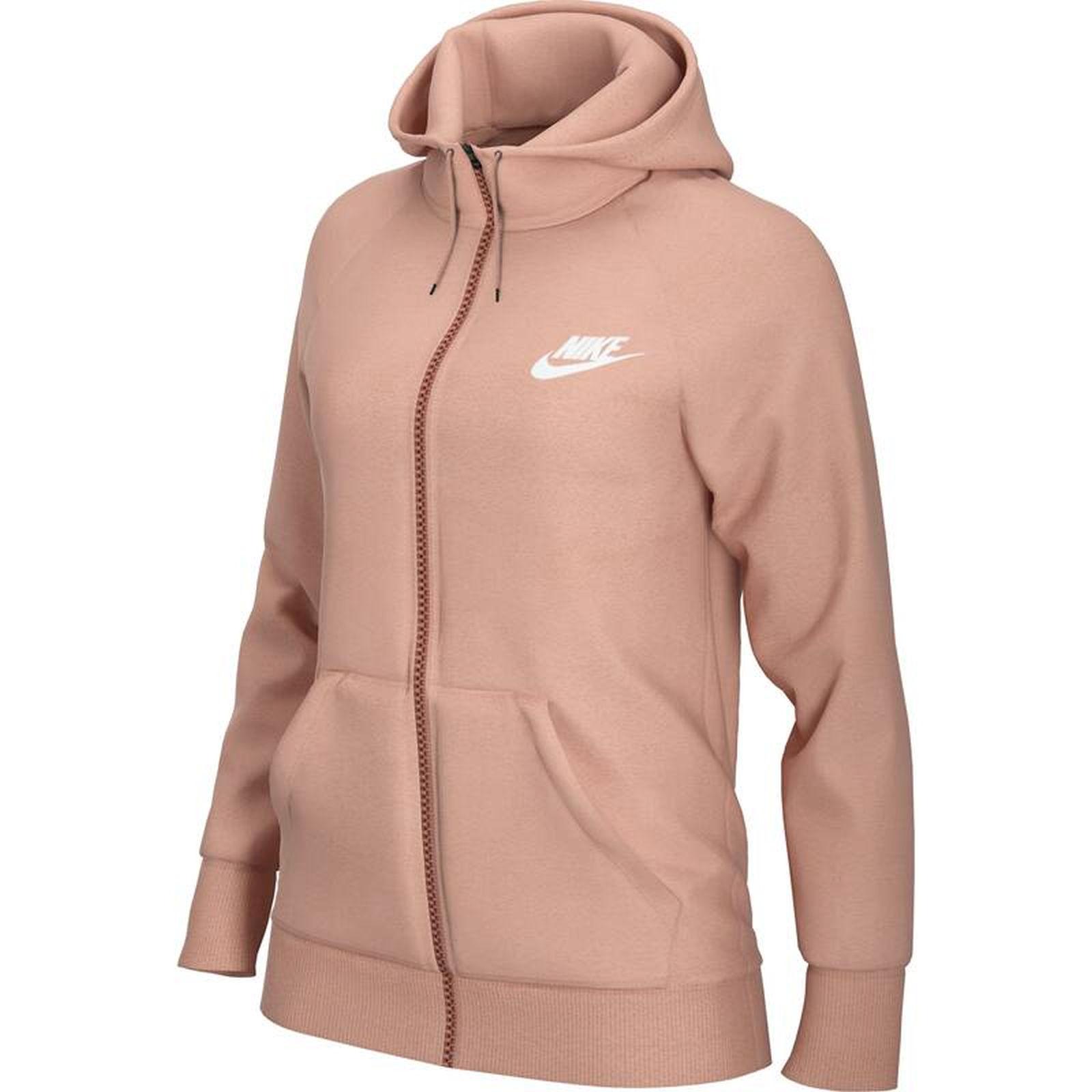 Détails sur Nike Femmes Sport-Fitness-Kapuzenjacke Veste/Sweat Essntl à  Capuche Fz Fl Rose