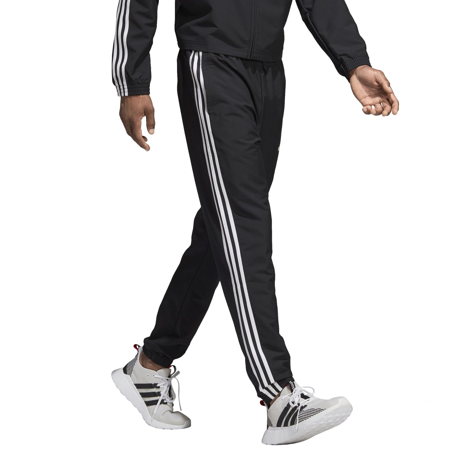Details about Adidas Men's Trainings Jogging Hose Essentials 3 Stripes Wind Pant Black