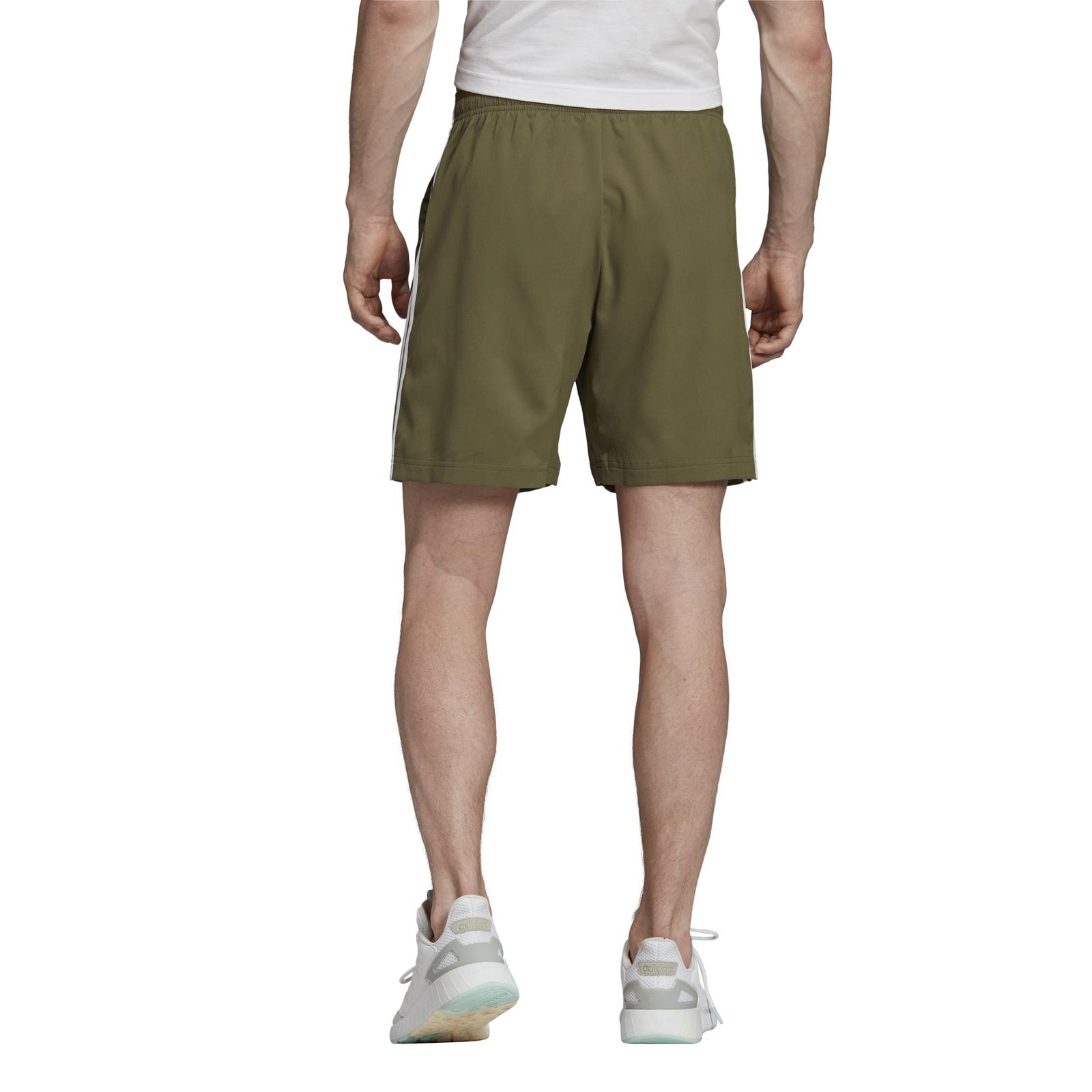 Adidas Performance Mens Sport Short Essentials 3 Stripes 7in Chelsea Green | eBay