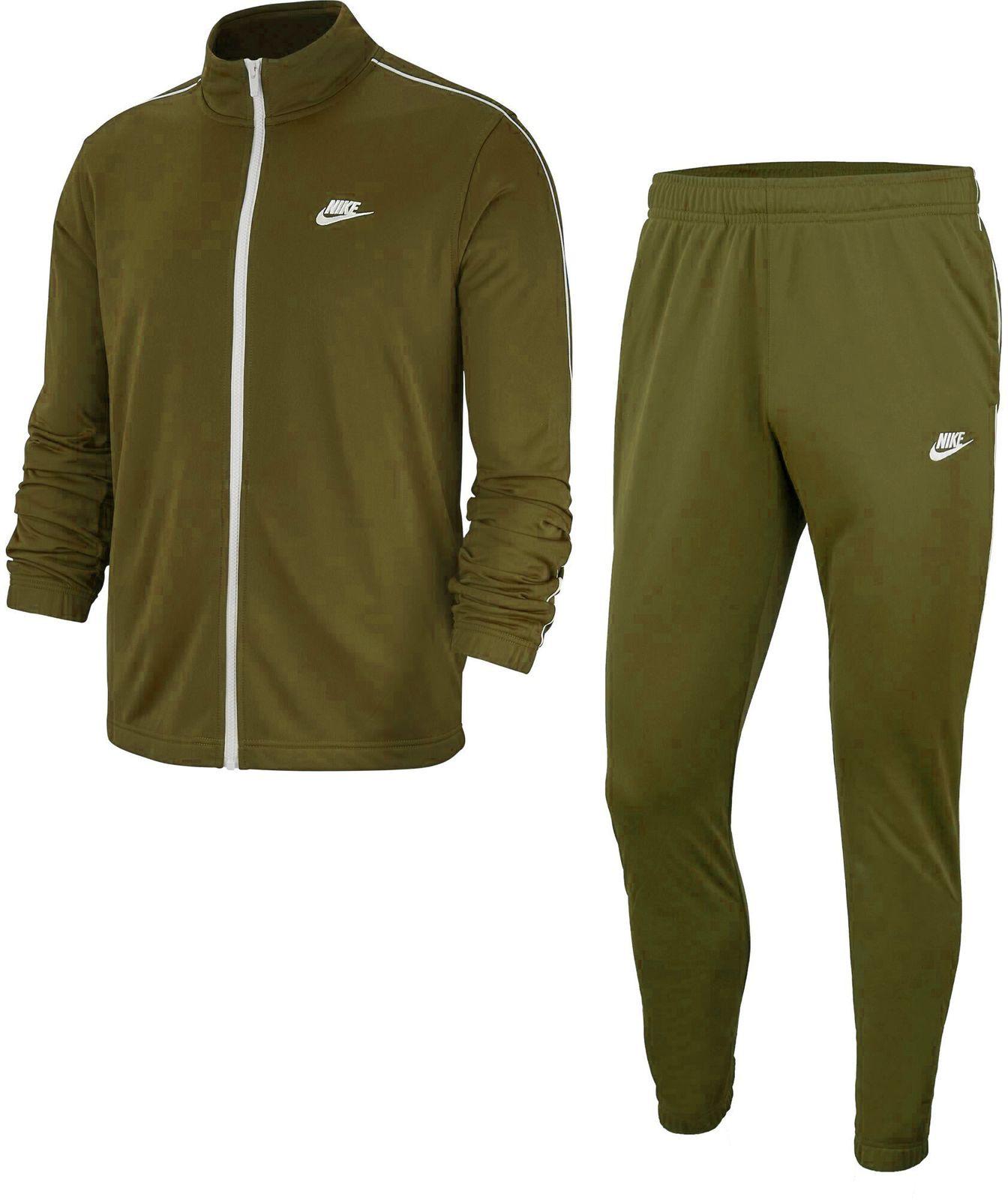 Details zu Nike Herren Fussball Fitness Trainingsanzug M NSW CE TRK SUIT PK BASIC grün