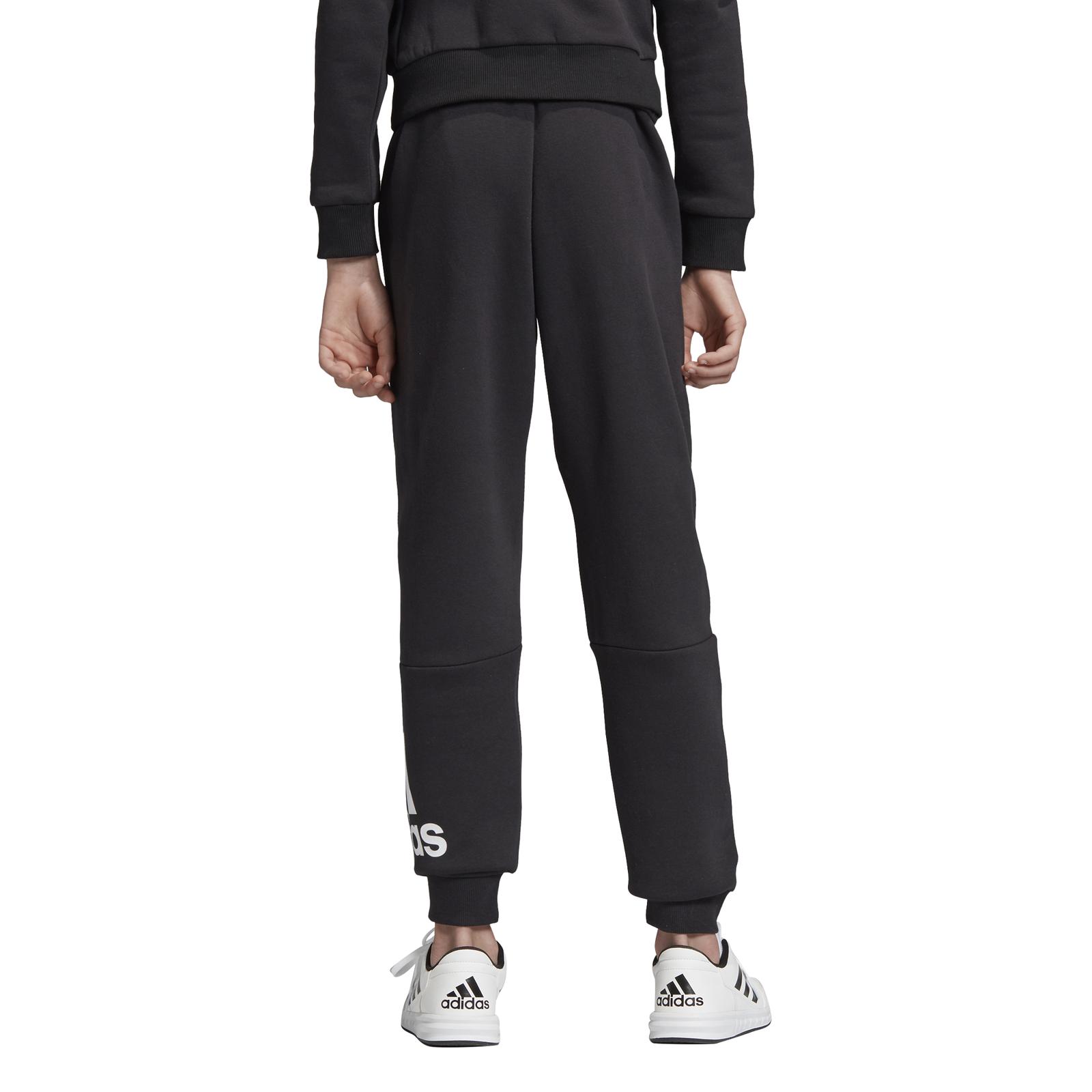 Details zu adidas Core Kinder Trainingshose Must Haves Badge of Sport Fleecehose schwarz