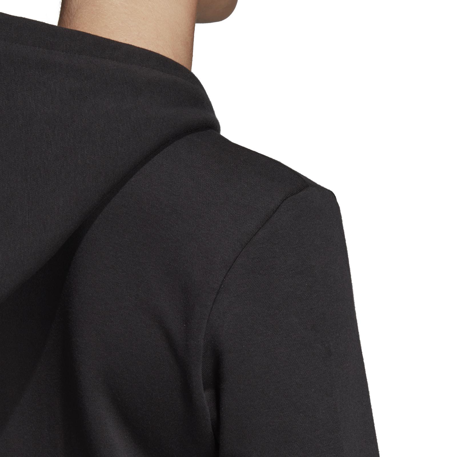 Details about Adidas Core Women Fitness Hoody Eat Linear Full Zip Fleece Hoodie Black