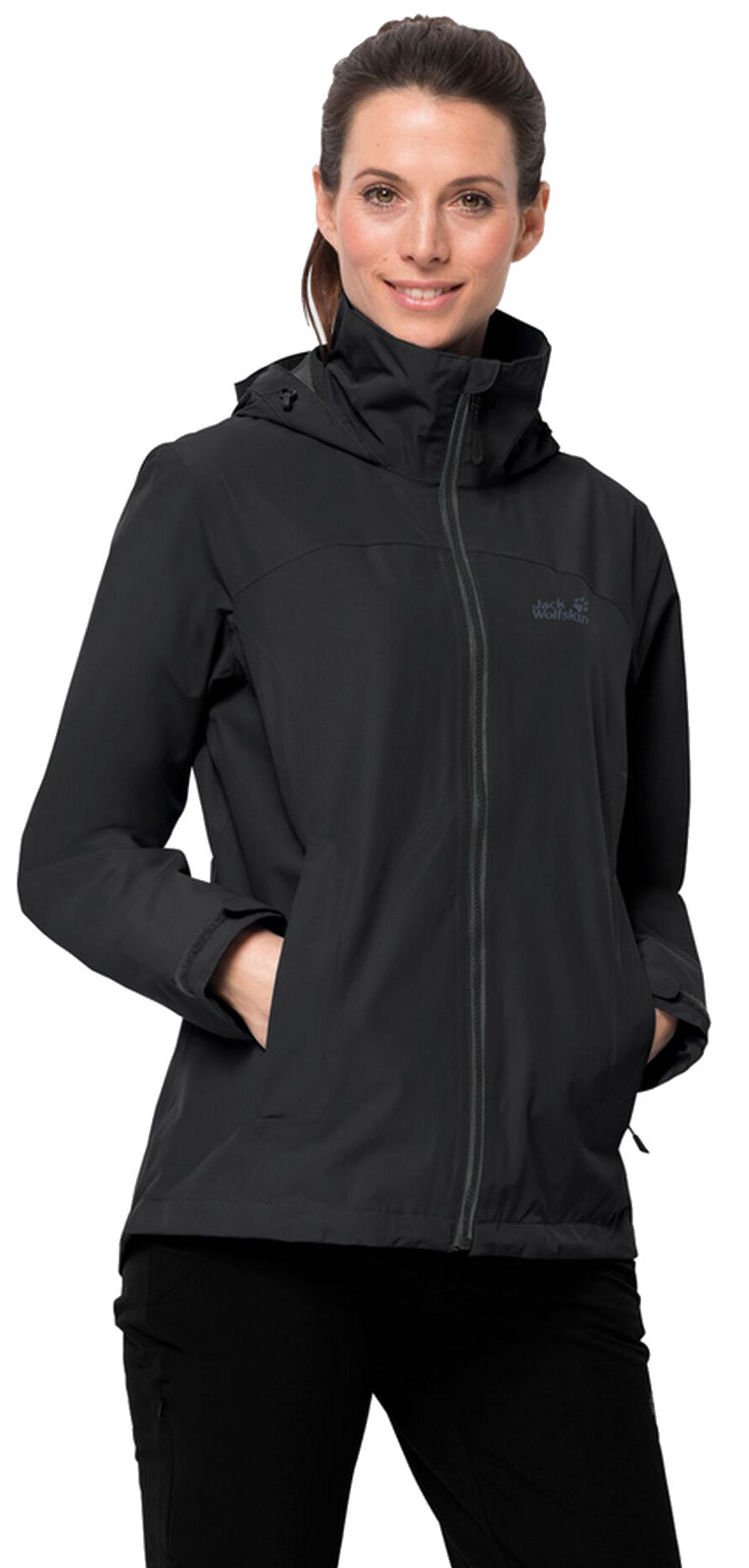 Freizeit Wander Jack Outdoor Details Black Wolfskin Ladies Women Evandale Jacket Jacke About 7gvYby6f
