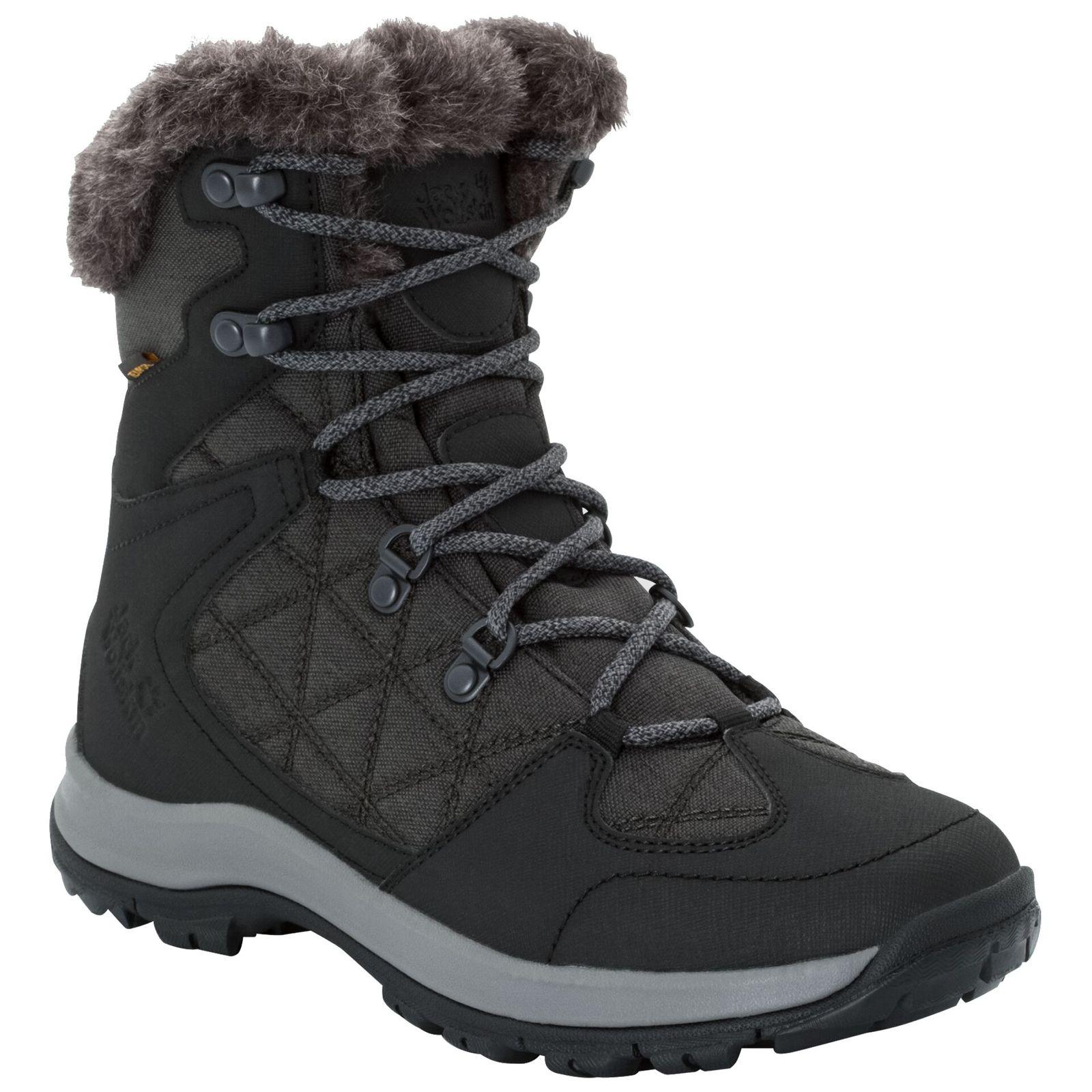 Mid About Thunder Ladies Jack Wolfskin Texapore Details Black Boots Bay Waterproof Winter erdBWoCx