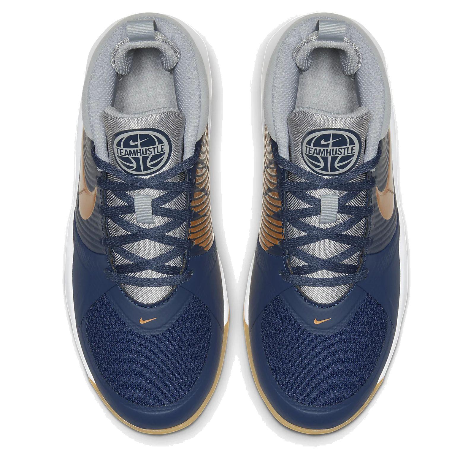 Details zu Nike Kinder Freizeit Basketball Schuhe Team Hustle D 9 blau