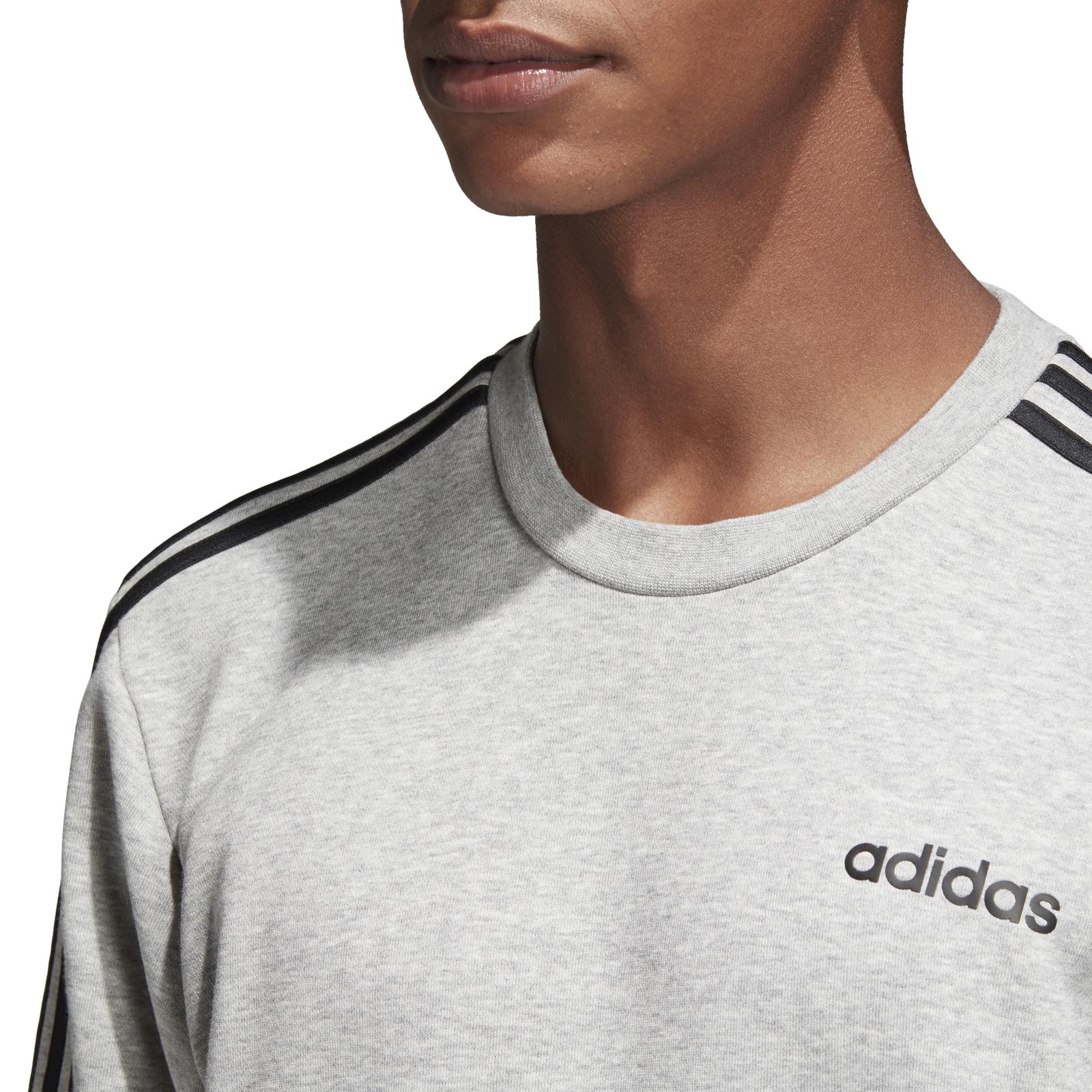 Detalles de Adidas Core señores Sport ocio suéter Essentials 3s crewneck Fleece gris ver título original