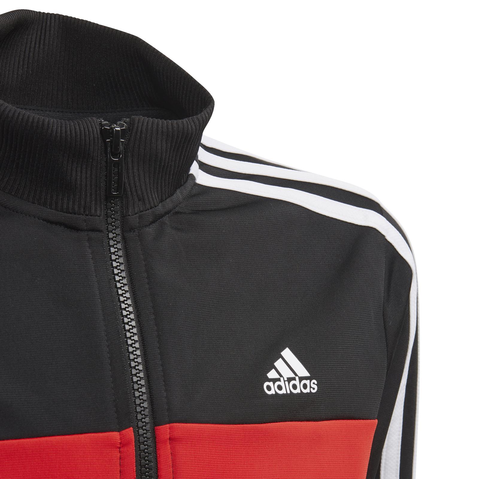 adidas Performance Kinder Sport-Trainingsanzug Tiberio Tracksuit schwarz rot