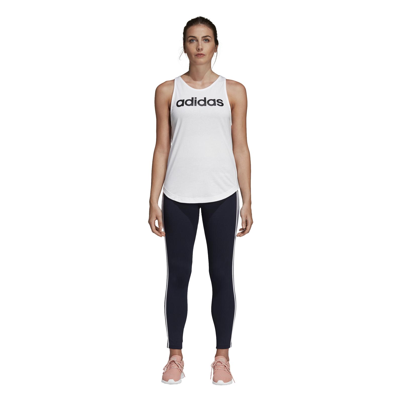 Details zu adidas Damen Sport Fitness Shirt Essentials Linear Loose Tank weiß