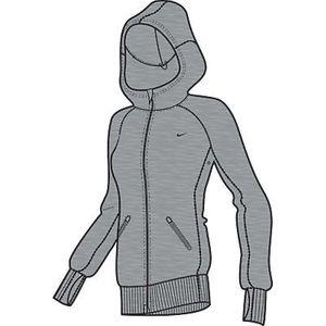 Nike FT Kapuzenjacke Damen grau