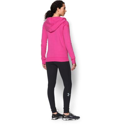 Under Armour Baumwoll Damen Hoodie Full Zip - Rival Cotten Storm – Bild 6