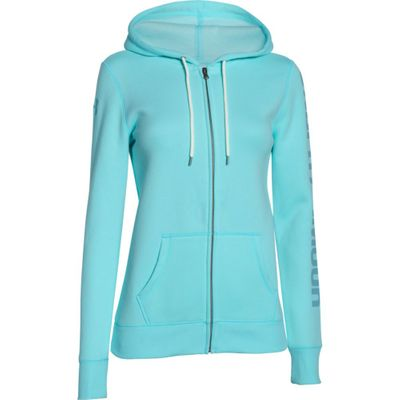 Under Armour Baumwoll Damen Hoodie Full Zip - Rival Cotten Storm – Bild 10