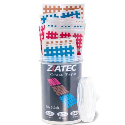 Ziatec Cross Tapes mit 102 oder 204 Pflaster + Ziatec Tape Schutzdose – Bild 3