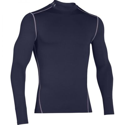 Under Armour Herren Langarm Funktions-Shirt Coldgear Mock – Bild 2