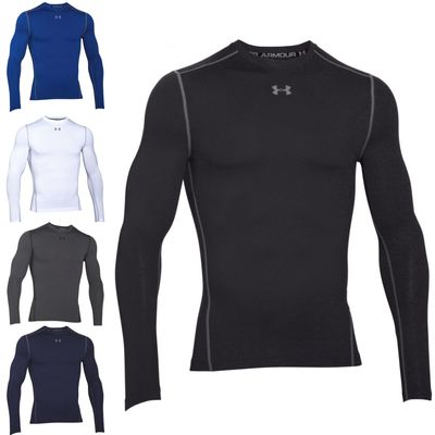 Under Armour Coldgear Compression Long-Sleeve Fitness Shirt Crew 001