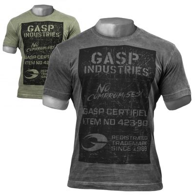 GASP Broad Street Print Tee - Fitness und Workout T-Shirt 001