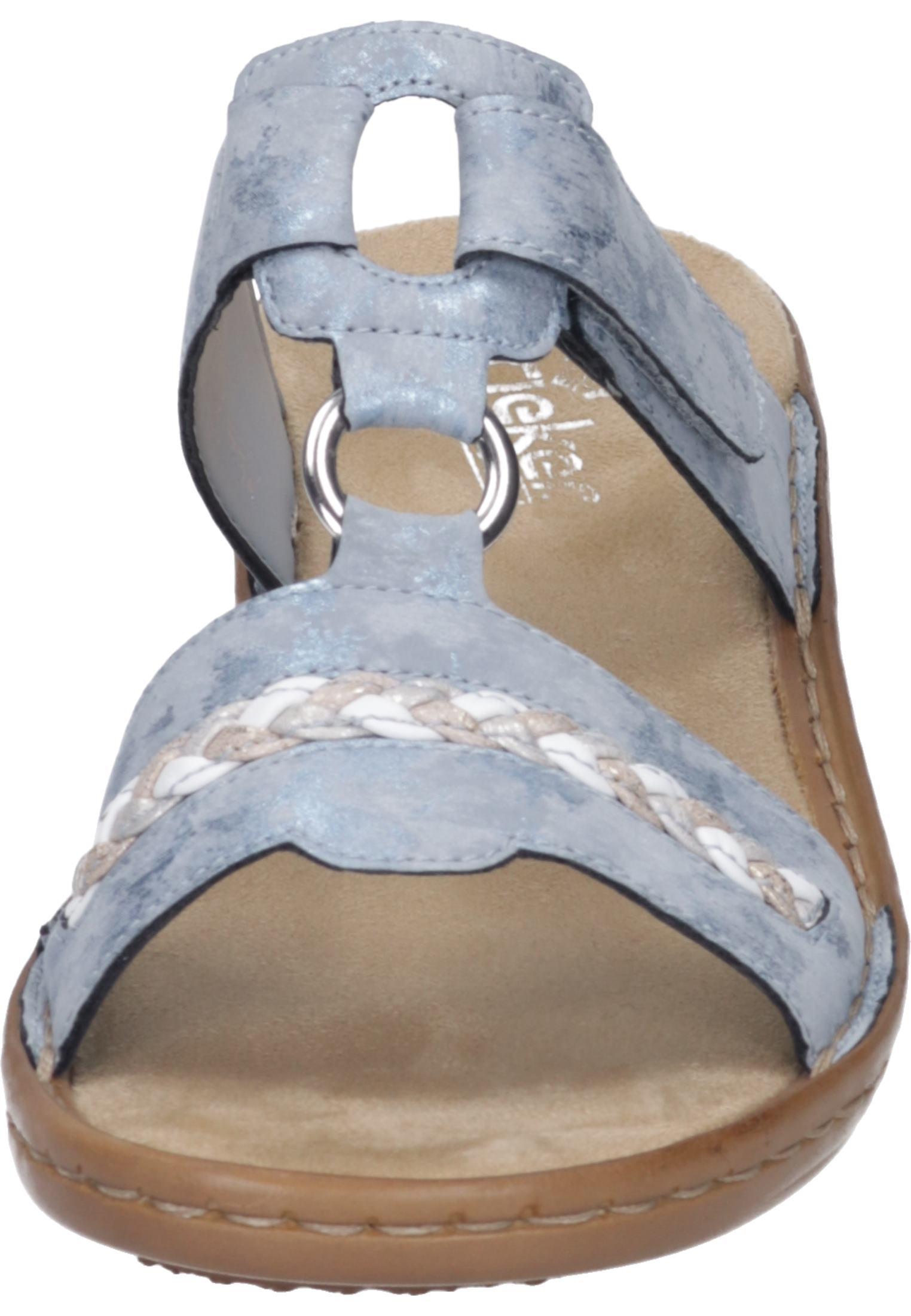 Rieker Nauru Schuhe Damen Sandalen Pantoletten Freizeit