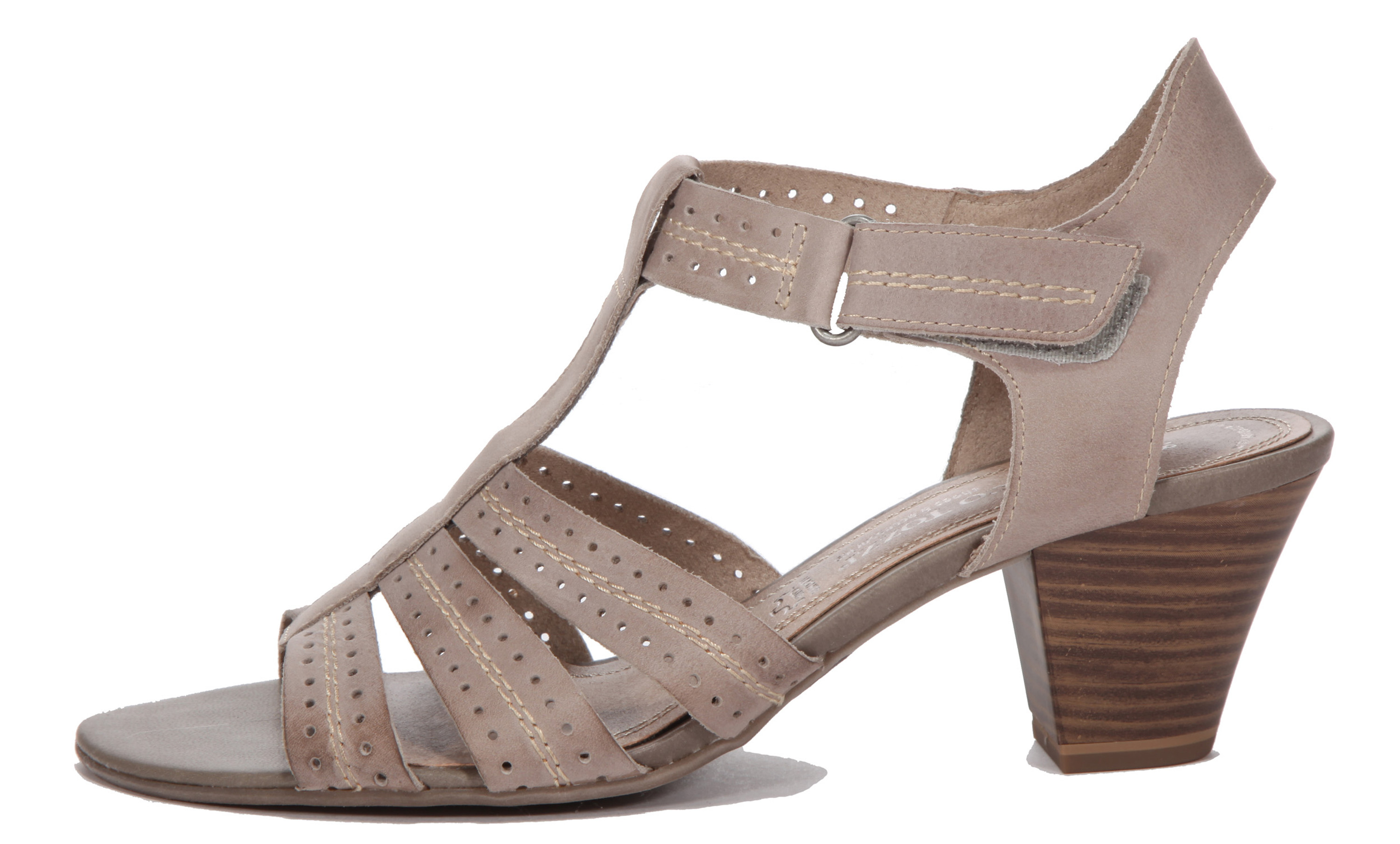 check out 8f6f4 a7947 Marco Tozzi Sandalette taupe