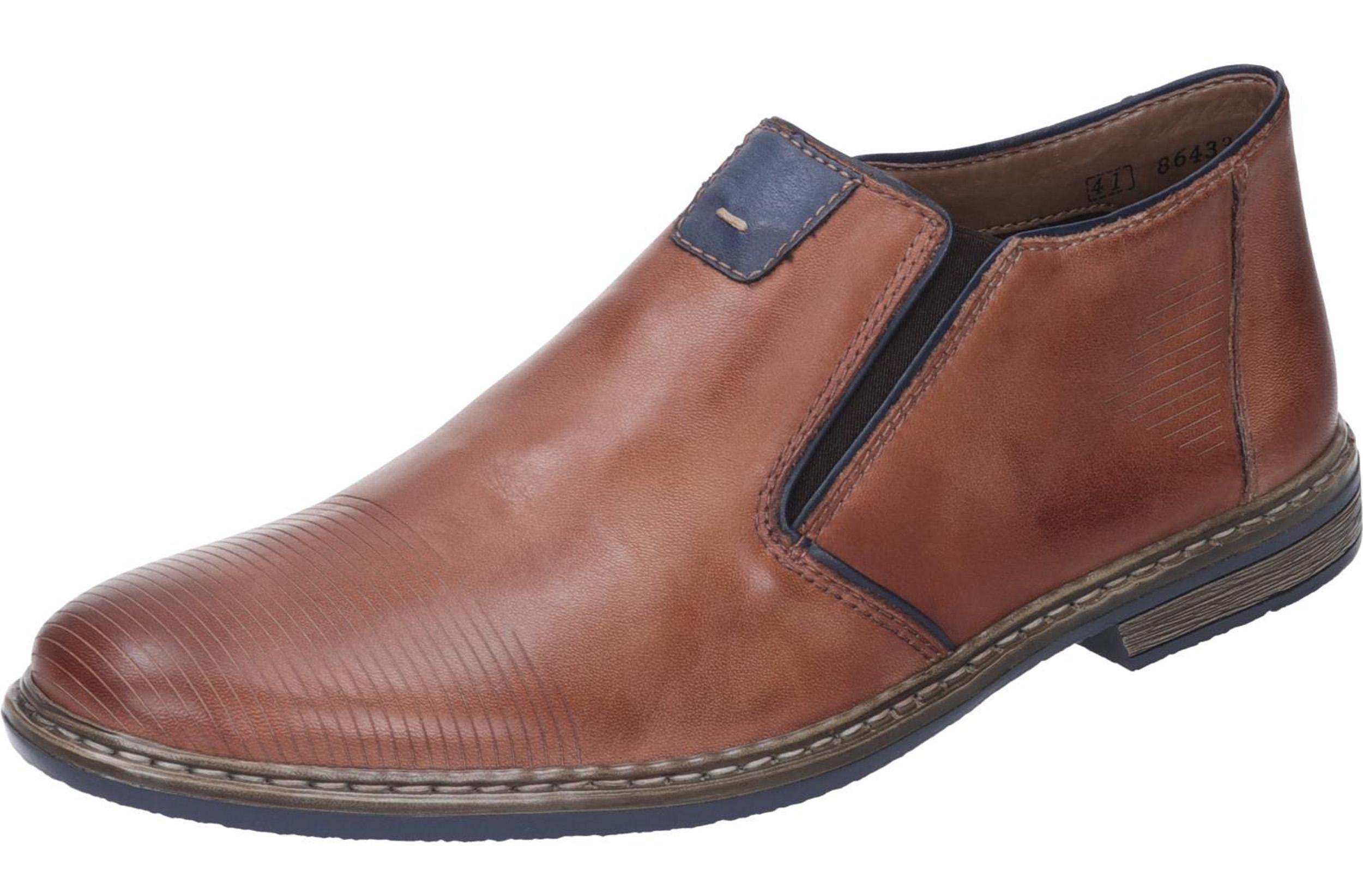sneakers for cheap 3bf47 049f1 Rieker Herren Slipper Echtleder braun