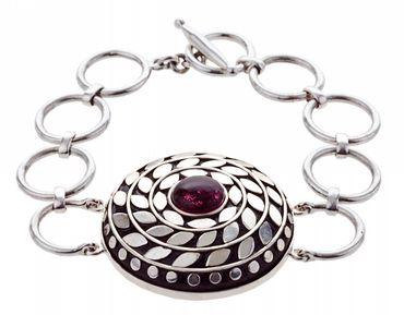 Fallon Wristband silver plated
