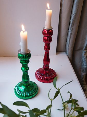 Epiphanie Candle Holder Green small – Bild 2