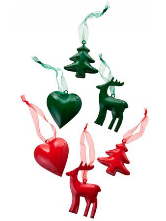 Santa Luce Christmas Ornament Heart Green – Bild 3