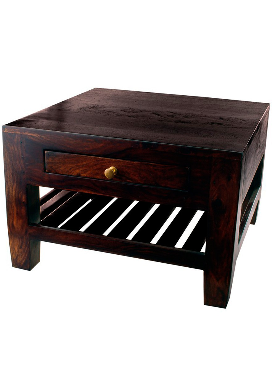 Uzes side table small 2 drawers furniture tables for Small side table with drawers