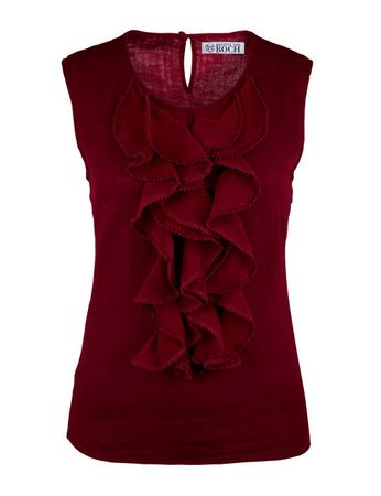 Simeri Valance Top Burgundy