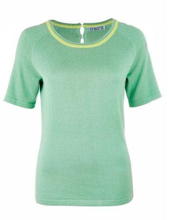 Cavuria Knitted Top Light Green