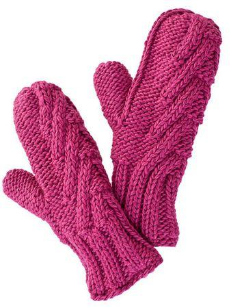Ardin Strick-Handschuhe Mauve – Bild 1