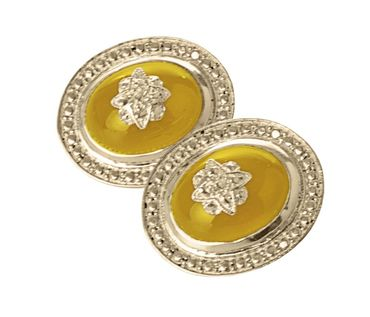 Cawdor Clip On Earrings Yellow