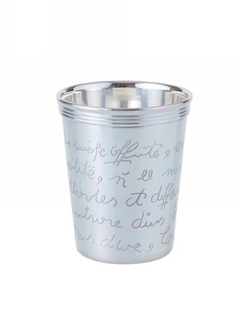 "Bourbon Can ""Script"" silver plated – Bild 1"