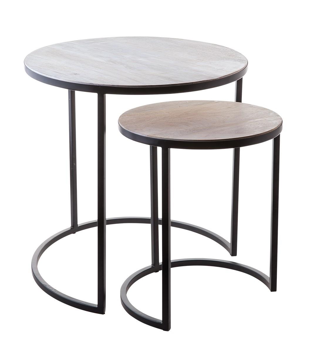 Gambassi Beistelltische 2er Set Möbel Tische