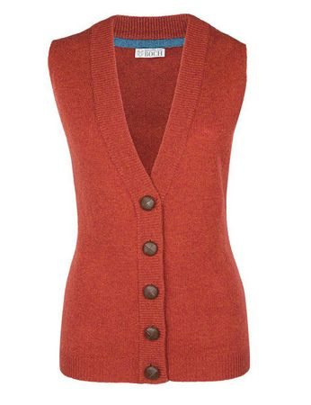 Moray Knitted Waistcoat Red-orange – Bild 1