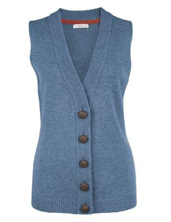 Moray Knitted Waistcoat Blue – Bild 1