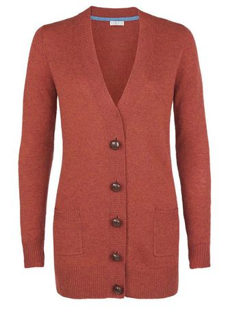 Moray Knitted Jacket Red/orange – Bild 1