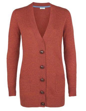 Moray Knitted Jacket Red/orange – Bild 1