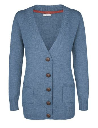 Moray Knitted Jacket Blue – Bild 1