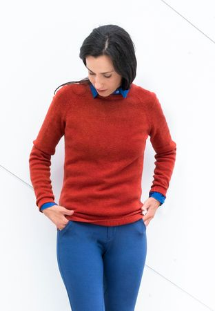 Moray Strick-Pullover rot-orange – Bild 2