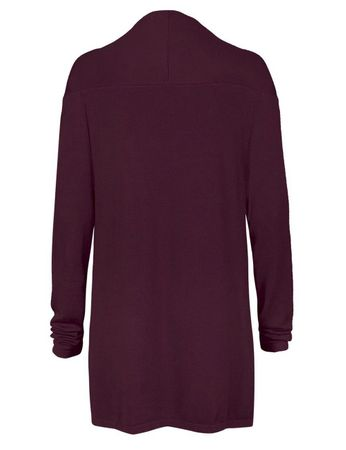 Malbet Strick-Jacke burgund – Bild 2