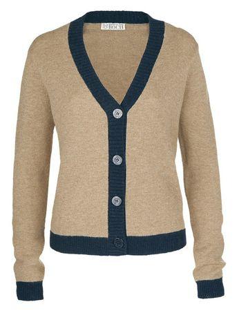 Amos Knitted Jacket chamois – Bild 1