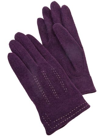Trinity Wool Gloves Purple