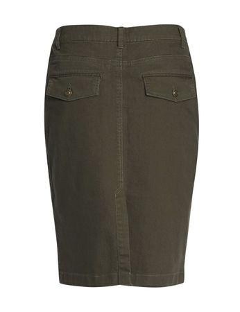 Salina Jeans Skirt Olive Green – Bild 2