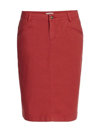 Salina Jeans Skirt Red – Bild 1