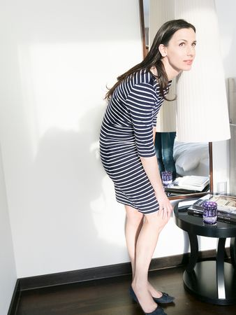 Portola Dress blue stripe – Bild 2