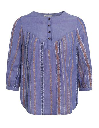 Descanso Blouse Blue – Bild 1